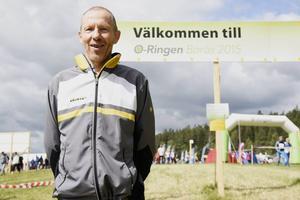 Karl-Olof Borg är trots en otäck olycka för två månader sedan på plats i Borås.