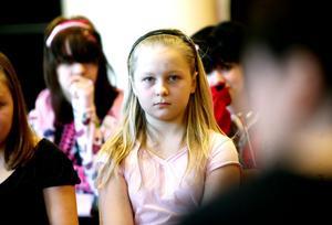 Felicia Ellner, 12, Ljusne tyckte att lördagens tjejkväll var rolig.