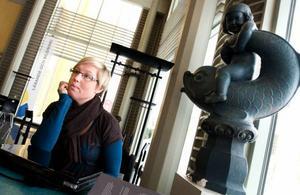 Johanna Höglind valde att studera på sjuksköterskeprogrammet framförallt därför att det skulle ge goda                         möjligheter till arbete. Foto: Håkan Luthman