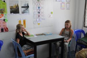 Liv tillsammans med Leia Jansson Falun i Snäckans klassrum.