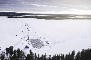 Starten gick 06.00 i Purkijaur utanför Jokkmokk.