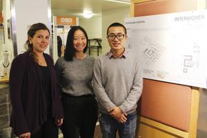 Studenter som läser vårdarkitektur vid Chalmers i Göteborg har ritat förslag på hur Östersunds sjukhus skulle kunna se ut i framtiden. Wenhao Shang, Emna Hachicha  och Tracy Lau har tagit fram ett av förslagen.