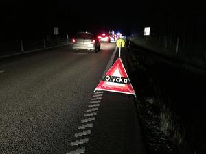 Vägen var avstängd under räddningsarbetet.