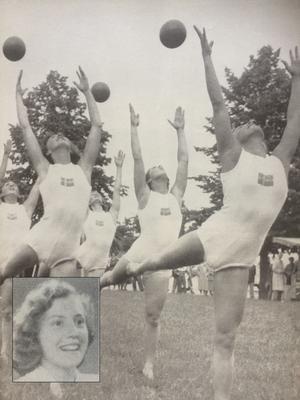 Evy Berggren (infälld) tog OS-guld 1952 och silver 1956 i gruppgymnastik med handredskap.