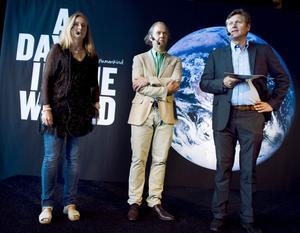 Marika Stolpe, Jeppe Wikström och Patrik Ståhle berättade om det världsomfattande fotoprojektet på en presskonferens i Stockholm.