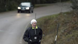 Bosse Axelsson på en av sina motionsrundor.