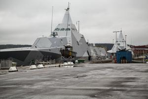 Kustkorvetterna Härnösand och Nyköping gör  ett blixtbesök i Härnösand,