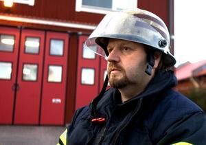 Stefan Söderlund är en av deltidsbrandmännen i Ludvika som hoppar av.