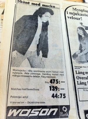 Annons i vlt 1974.