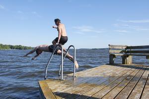En pärla. Gäddeholm är perfekt för dem som vill bada i fred.Foto: Jessika Djäknegård