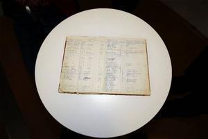 George Harrisons autograf i en gästbok kommer att visas på museum. Men det är inte samma gästbok som ÖP tidigare berättat om. Den här är nyligen återfunnen vid Optands flygfält.