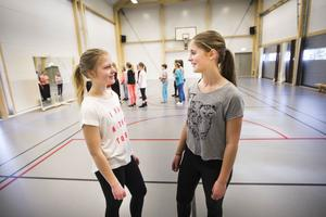 Silje Norell och Anna Svensson tog initiativet till danskurserna. Här ska de precis börja prova på- kursen.