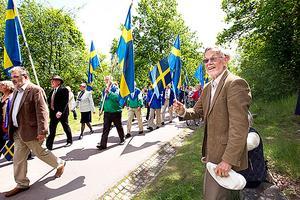 Från Australien. Gunnar Magnusson bor i Sydney och är på besök i Västerås.
