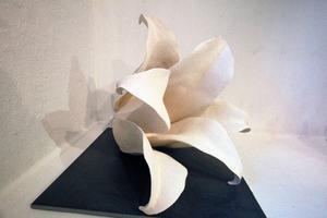 ... ny keramik på Drejeriet, där kronbladen öppnar sig.