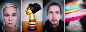 Fri form och färg som flödar. Kajsa-Tuva Henriksson och Ollio (Jonathan Josefsson) är två av konstnärerna i Lars Bolin Gallerys julutställning.