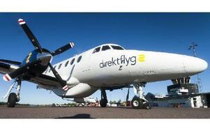 Några av Direktflygs Jetstream 32 uppställda vid Dala Airport i går förmiddag. Foto: Mikael Forslund