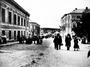 På vilken gata är bilden tagen? Rätt svar är Nybrogatan i Härnösand.