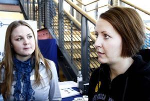 – Det är full rulle och det känns jättebra, tyckte Veronica Johansson, projektledare i studentkåren, och Sofia Klasson, arbetslivskoordinator på MIUN.
