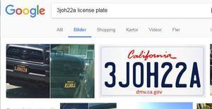 Både de som försöker testa utredarna och utredarna själva googlar ofta kombinationer. Här en skärmdump från nätet som ett exempel på hur man kan få träff.