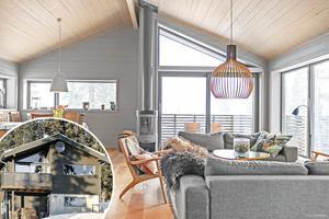 Arkitektritat hus högt uppe i Tegefjäll. Kostar 6,6 miljoner kr.