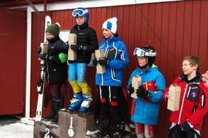 Anton Rösnäs från Svegs Alpina klubb vann H12 klassen på lördagen. På söndagen blev det inga tävlingar.