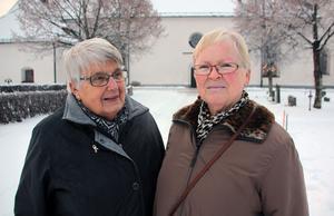 Inga Löfgren och Christina Bjurelid hoppas på en nystart med nya kyrkoherden i Gagnefs pastorat.
