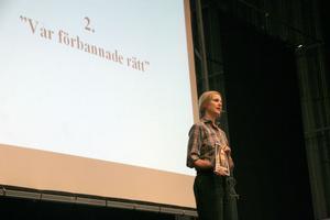 Dagen inleddes med en föreläsning av författaren till boken