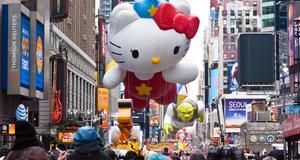 I New York firas Thanksgiving med en stor festival där gigantiska ballonger ingår.