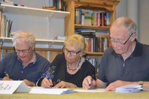Nils-George Olsson, Anna-Stina Westergren och Allan Larsson försvarade Bollnäs färger med den äran.