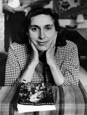 Katarina Taikon fotograferad 1963, när hennes första bok