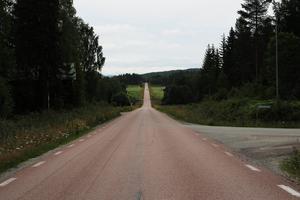 Den väg som är så rak att den har kommit att kallas därefter – Hertsjörakan.