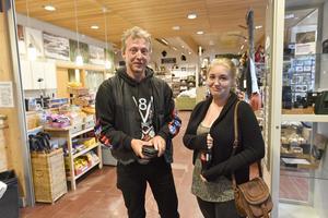 Hans-Erik och Josefine Johansson  från Årjäng hann precis in i parken innan de fick vända och lämna parken.