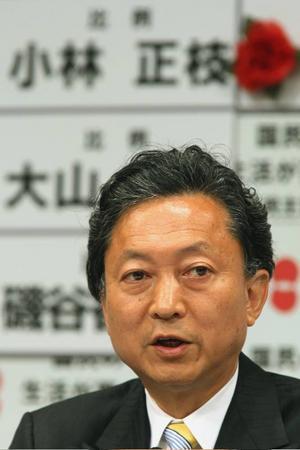 Yukio Hatoyama, ledare för Japans demokratiska parti ser ut att ha tagit en jordskredsseger i det japanska valet. Efter USA:s politiska steg till vänster är det nu Japans tur.   Foto: Scanpix