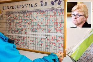 Ewa Back (S) kör dubbla processer. Först avvecklas och sedan räddas BB i Örnsköldsvik.
