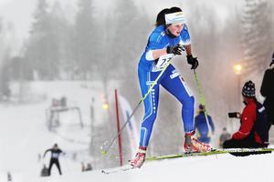 Frida Johansson från HIF kom sexa i D 17–18-klassen.