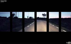 """Musikens väg. Bild från trailer till verket """"Routes"""" av Mattias Lysell (musik) och Adam Wittsell (film)."""