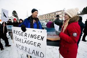 Terry Sammons och Jonna Jinton deltog i demonstrationen.