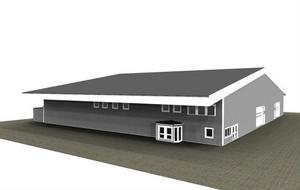 Så kommer AB Karl Hedins varuhus för bygg och industri i Edsbyn att se ut.