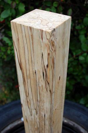 Björken blir marmoriserad  i förstadien till förruttnelse –  eller kontrollerad rötning som metoden också kallas.