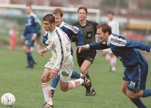 En ung Kennedy i en match mellan Assyriska och Nacka i division 1 år 1998.