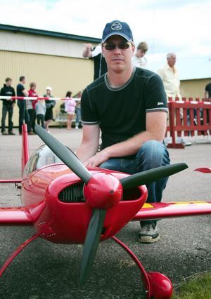 Entusiast. Mikael Berg fick sitt första modellflygplan när han var sex år gammal.