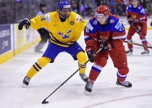 Jens Lööke kämpade hårt mot Ryssland i semifinalen, men det räckte inte för att Sverige skulle ta sig till final.