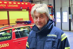 Mats Brolin, brandbefäl och ansvarig för externutbildningen i Leksand som är orolig för vad som ska hända när byautbildningarna nu upphör.