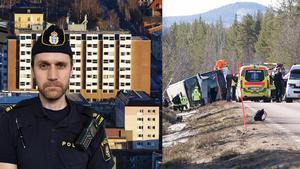 Erik Sidenvall, polisens chef för yttre personal i Härjedalen. Bilden är ett montage Scanpix/ÖP/Länstidningen Östersund