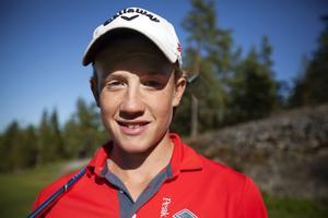 Johan Mohlin är bra i ishockey också, men den sista tiden har det förstås varit fullt fokus på golfen.