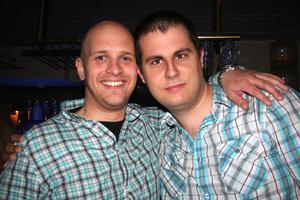 Blue Moon Bar. Erik och Mattias