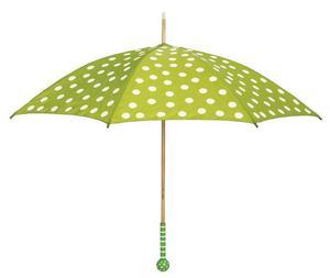 Paraplyet Jabadabado finns hos Lekmer.se. Glatt och gulligt med mönstrat trähandtag.