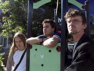 En tidig bild på ett helt annat Electric Religions från 1999. På bilden: Steven Kautzky Andersson, Andreas Segemark och Bino Rindestig.