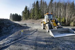 Den nya bussgatan mellan Sörby urfjäll och Upplandsleden är snart klar. Här ska buss 3 köra.