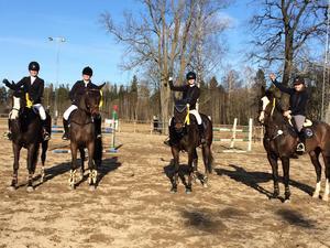 Gagnefs Ridklubb slutade på en tredje plats i premiären av ridsportsallsvenskan. I laget red  Lisa Rosell/El Niño, Lola Asp/Russel Crowe, Elin Hedman/Vilda och Anna Gisslén Wikström.